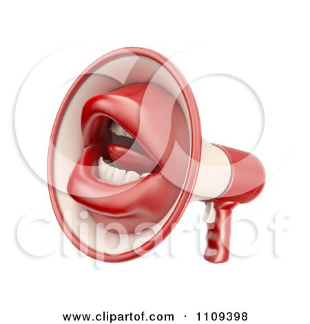 Clipart 3d Mouth Megaphone - Royalty Free CGI Illustration by Mopic