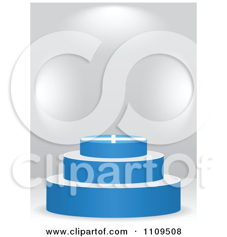Clipart 3d Greek Flag Podium On A Gray Background - Royalty Free Vector Illustration by Andrei Marincas