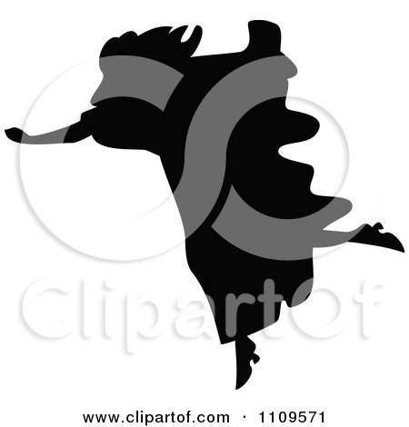 Clipart Silhouetted Woman Running - Royalty Free Vector Illustration by Prawny Vintage