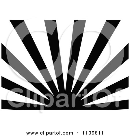 Clipart Black And White Sun And Rays Background 1 - Royalty Free Vector Illustration by dero