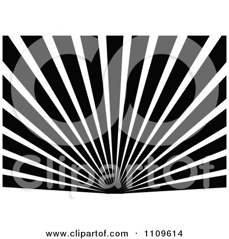 Clipart Black And White Sun And Rays Background 4 - Royalty Free Vector Illustration by dero