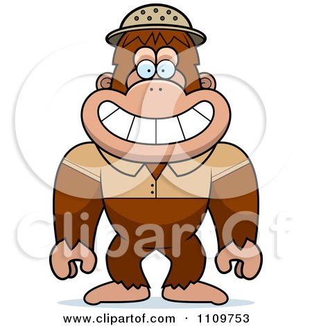 Clipart Bigfoot Sasquatch Explorer - Royalty Free Vector Illustration by Cory Thoman