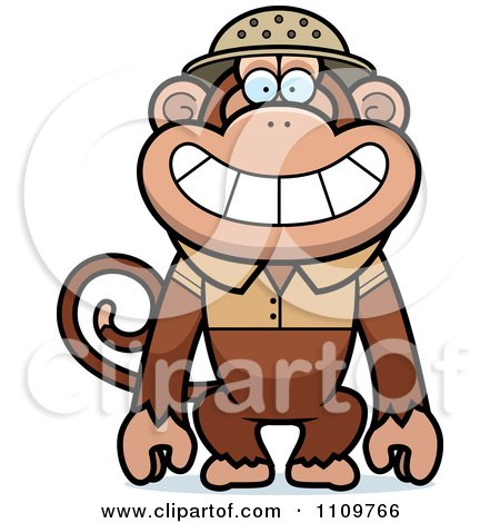 Clipart Monkey Explorer - Royalty Free Vector Illustration by Cory Thoman