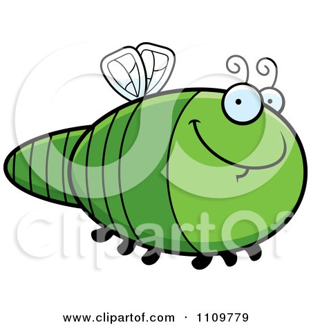 Clipart Grinning Dragonfly - Royalty Free Vector Illustration by Cory Thoman