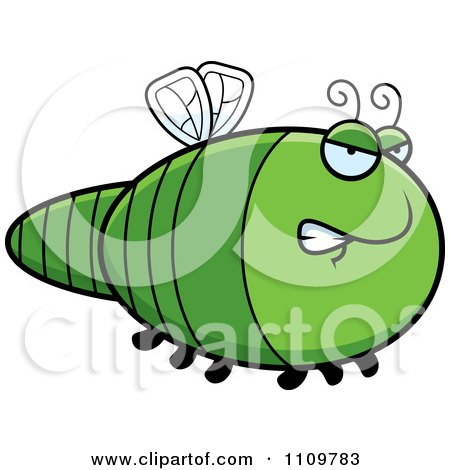 Clipart Angry Dragonfly - Royalty Free Vector Illustration by Cory Thoman