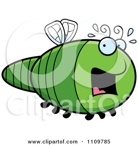 Clipart Scared Dragonfly - Royalty Free Vector Illustration by Cory Thoman