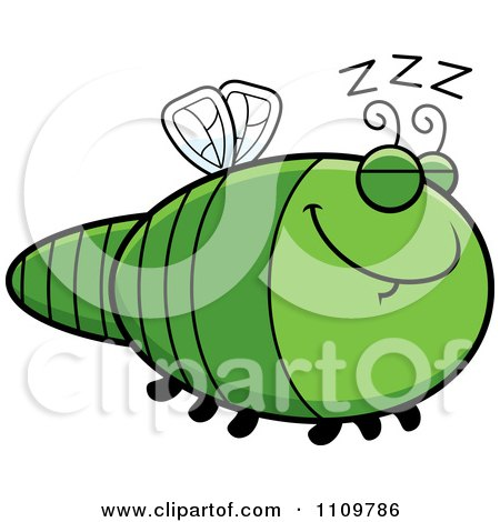 Clipart Sleeping Dragonfly - Royalty Free Vector Illustration by Cory Thoman