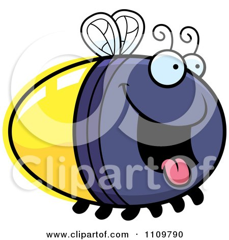 Clipart Hungry Firefly Lightning Bug - Royalty Free Vector Illustration by Cory Thoman