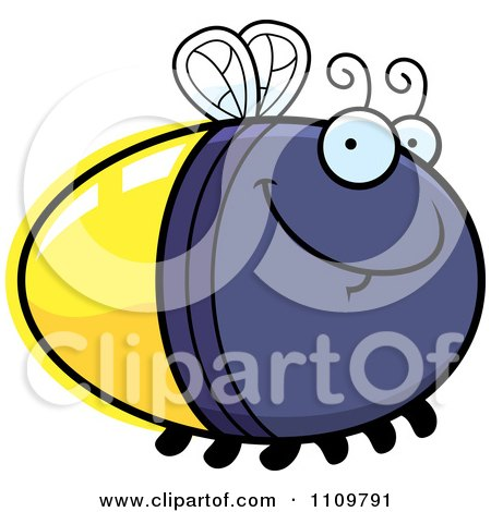 Clipart Grinning Firefly Lightning Bug - Royalty Free Vector Illustration by Cory Thoman