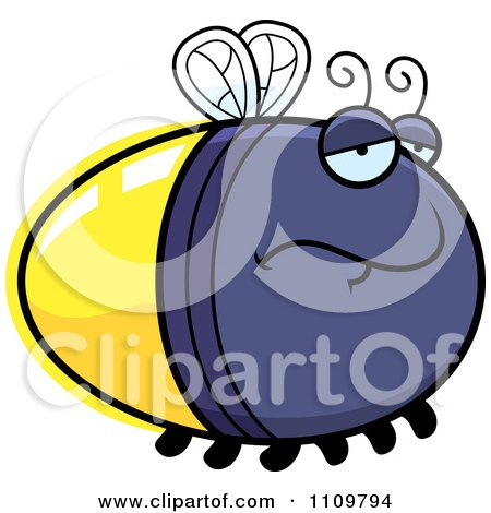 Clipart Depressed Firefly Lightning Bug - Royalty Free Vector Illustration by Cory Thoman