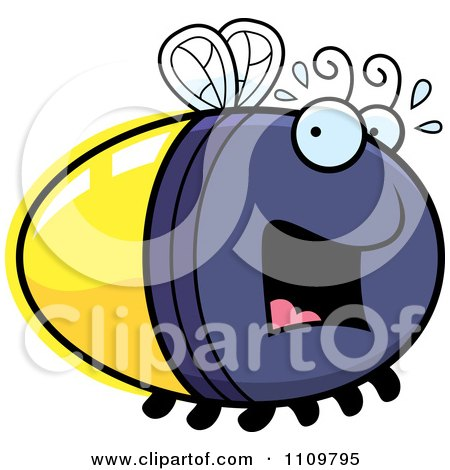 Clipart Scared Firefly Lightning Bug - Royalty Free Vector Illustration by Cory Thoman