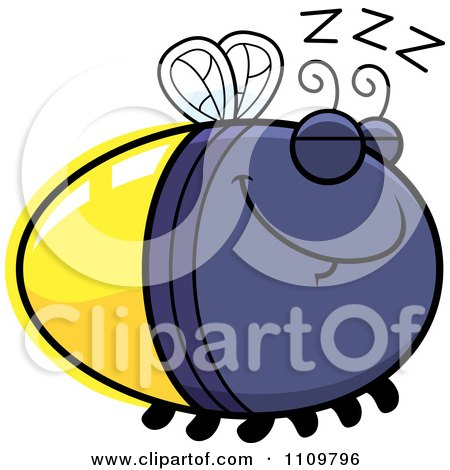 Clipart Sleeping Firefly Lightning Bug - Royalty Free Vector Illustration by Cory Thoman
