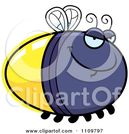 Clipart Sly Firefly Lightning Bug - Royalty Free Vector Illustration by Cory Thoman