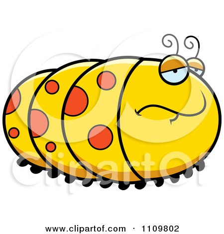 Clipart Depressed Caterpillar - Royalty Free Vector Illustration by Cory Thoman