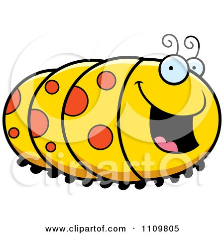 Clipart Happy Caterpillar - Royalty Free Vector Illustration by Cory Thoman