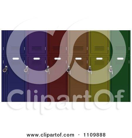 3d Colorful School Lockers Posters, Art Prints
