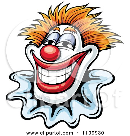 Clipart Happy Smiling Clown - Royalty Free Vector Illustration by Vector Tradition SM