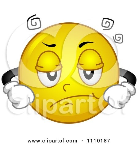 Clipart Yellow Smiley With An Annoyed Expression - Royalty Free Vector Illustration by BNP Design Studio