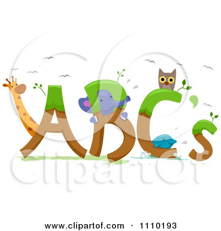 Clipart Alphabet Animals With ABCs - Royalty Free Vector Illustration by BNP Design Studio