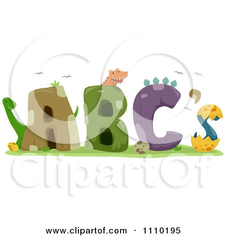 Clipart Alphabet Dinosaurs With ABCs - Royalty Free Vector Illustration by BNP Design Studio