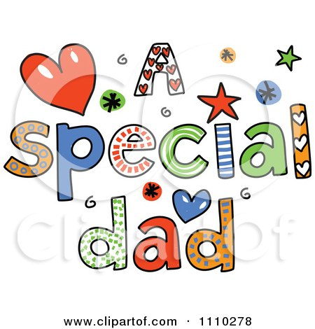 Clipart of Colorful Sketched Happy Fathers Day Text - Royalty Free ...