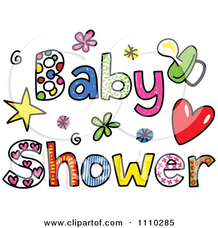 clipart colorful sketched baby shower text royalty free free baby shower clip art for girls free baby shower clip art