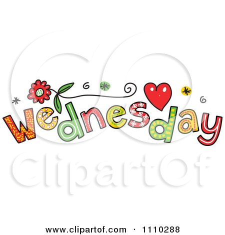 Clipart Colorful Sketched Wednesday Text - Royalty Free Vector Illustration by Prawny