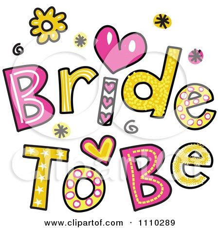 Colorful Sketched Bride To Be Text Posters, Art Prints