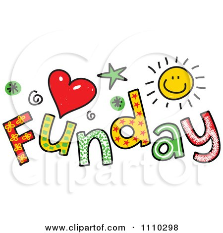 Clipart Colorful Sketched Funday Text - Royalty Free Vector Illustration by Prawny