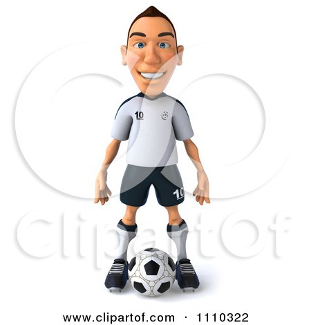 Clipart 3d White German Soccer Player 1 - Royalty Free CGI Illustration by Julos