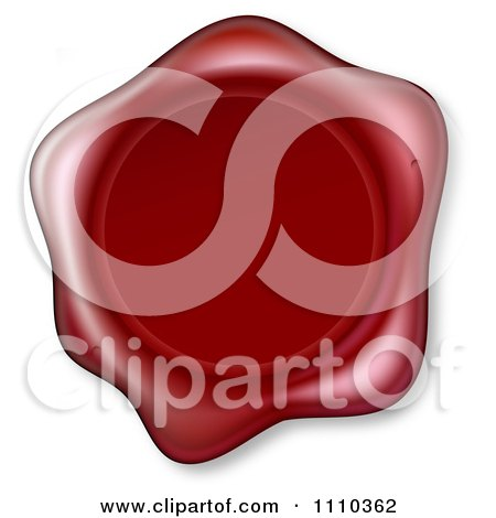 Clipart 3d Embossed Red Wax Seal - Royalty Free Vector Illustration by AtStockIllustration