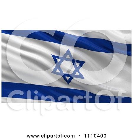 Clipart 3d Waving Flag Of Israel Rippling And Waving - Royalty Free CGI Illustration by stockillustrations