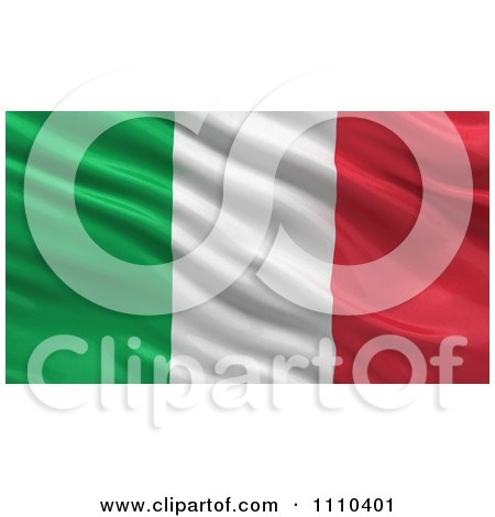Clipart 3d Waving Flag Of Italy Rippling And Waving - Royalty Free CGI Illustration by stockillustrations