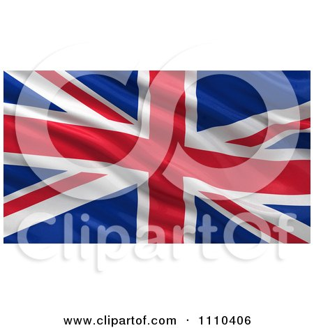 Clipart 3d Waving Flag Of Great Britian Rippling And Waving - Royalty Free CGI Illustration by stockillustrations