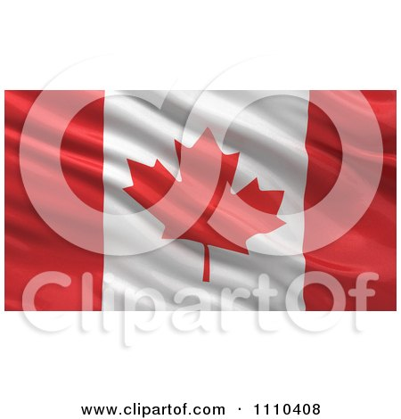 Clipart 3d Waving Flag Of Canada Rippling And Waving - Royalty Free CGI Illustration by stockillustrations