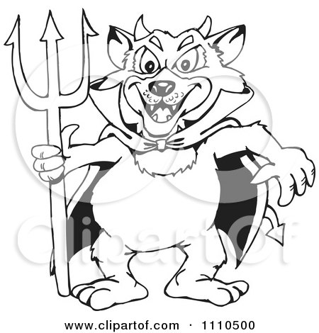 clipart black and white tasmanian devil royalty free