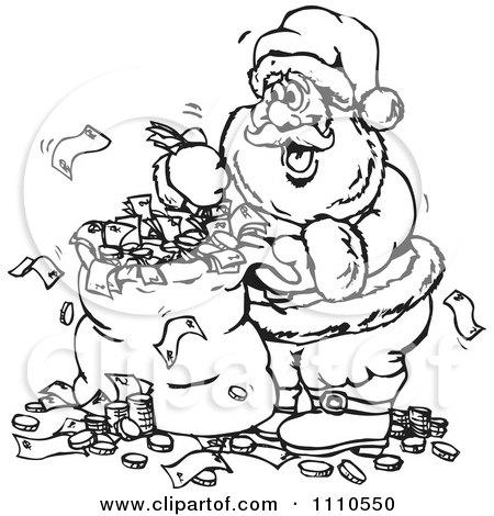 Free Money Drawings Money Bag Royalty Free