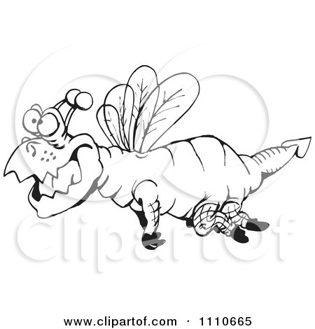 Clipart Black And White Dragonfly - Royalty Free Illustration by Dennis Holmes Designs