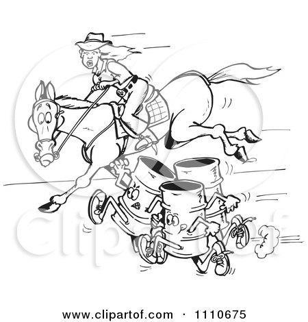 Royalty-Free (RF) Barrel Racing Clipart & Illustrations #1