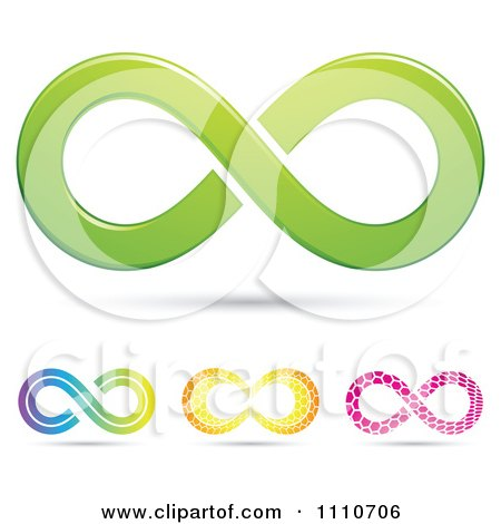 Clipart Colorful Infinity Symbols 4 - Royalty Free Vector Illustration by cidepix