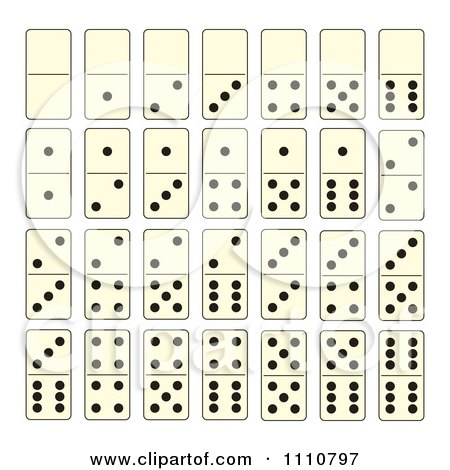 Clipart Dominoes Game Tiles - Royalty Free Vector Illustration by ...
