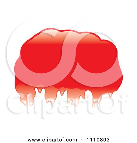 Clipart Shiny Red Blob Or Splatter - Royalty Free Vector Illustration by michaeltravers