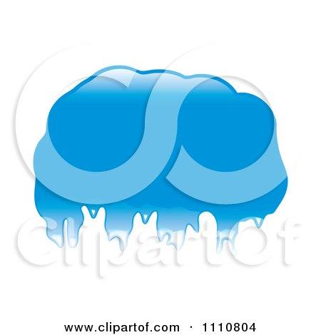 Clipart Shiny Blue Blob Or Splatter - Royalty Free Vector Illustration by michaeltravers