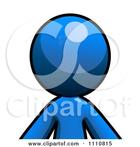 Clipart Blue Guy Avatar Royalty Free CGI Illustration