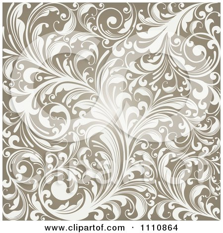 Clipart Glowing Brown Flourish Background Royalty Free