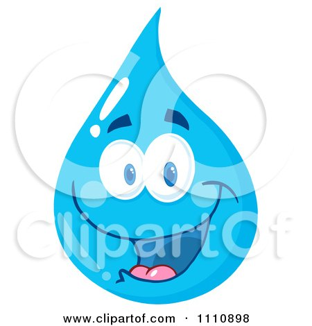 Clipart Water Drop Smiling - Royalty Free Vector Illustration by Hit Toon