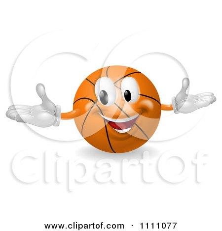 Clipart 3d Happy Basketball Mascot - Royalty Free Vector Illustration by AtStockIllustration