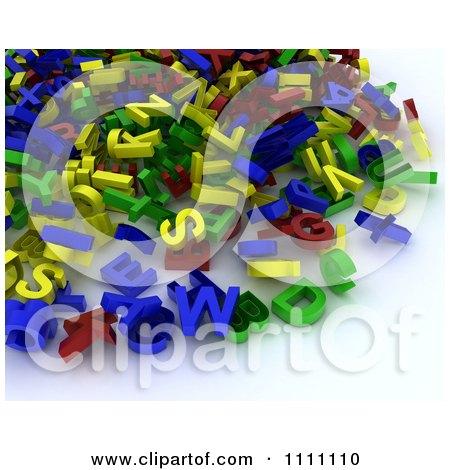 Clipart Pile Of 3d Letter Magnets - Royalty Free CGI Illustration by KJ  Pargeter