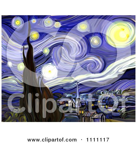 Revision Of Goghs The Starry Night Posters, Art Prints