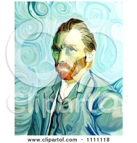 Revision Of Goghs 1889 Self Portrait Posters, Art Prints